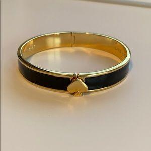 {kate spade} Black enamel bracelet.
